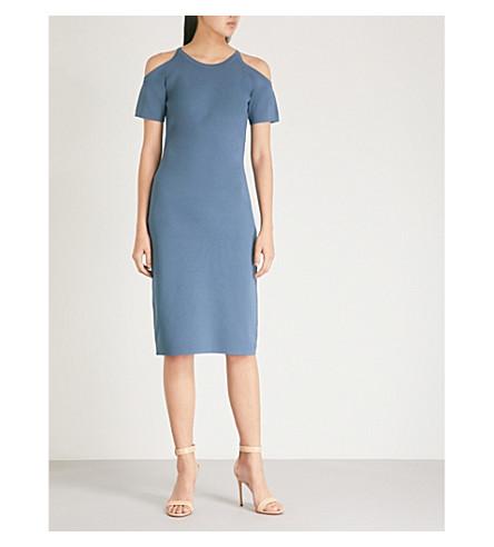 MICHAEL MICHAEL KORS Cut-out stretch-crepe dress (Dark+chambray