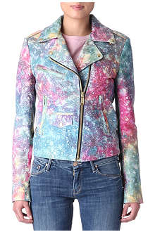 HOUSE OF HOLLAND Tie-dye leather jacket