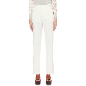 Slim-fit crepe trousers