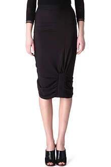 HIGH Ruched jersey skirt