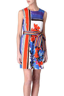 RED VALENTINO Lattice-printed dress
