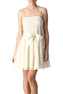 RED VALENTINO Crochet and tulle dress