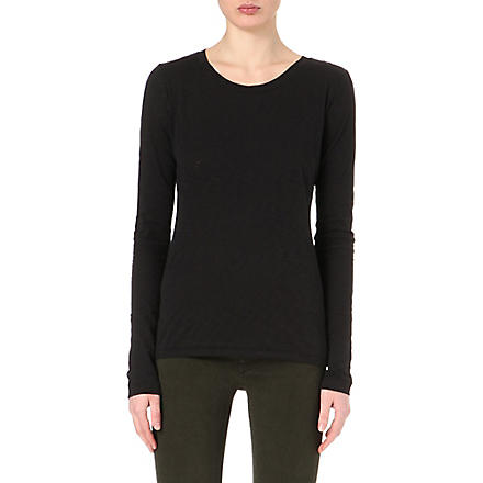 RAG & BONE Classic long-sleeved top (Black