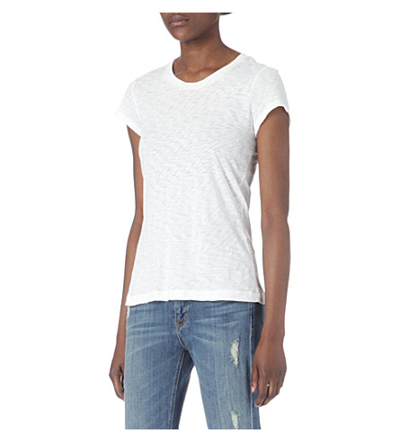 RAG & BONE Brando cotton-jersey t-shirt (White