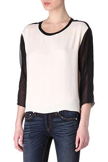 RAG & BONE Silk baseball top
