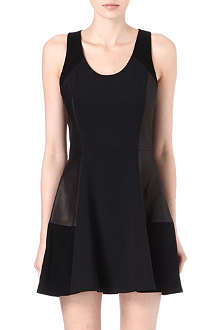 RAG & BONE Montrose crepe and leather dress