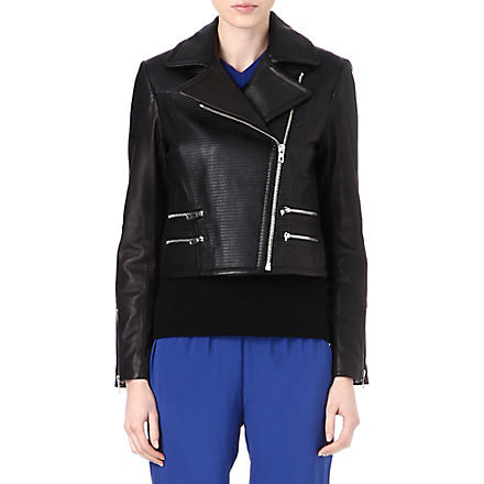 RAG & BONE Hudson leather biker jacket (Black