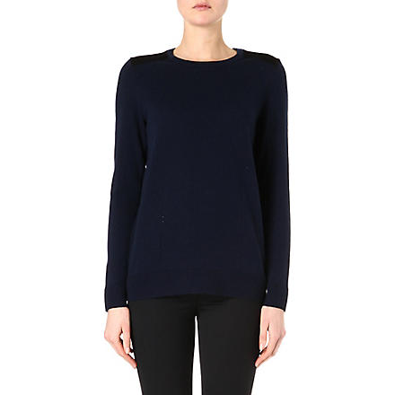 RAG & BONE Maribel knitted jumper (Navy