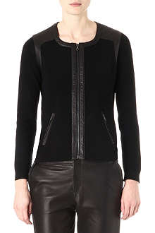 RAG & BONE Brynn wool and leather trim jacket