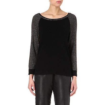 RAG & BONE Melanie raglan-sleeve jumper (Black