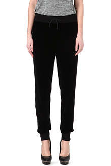 RAG & BONE Velour jogging bottoms