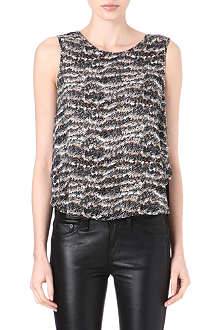 RAG & BONE Printed silk top