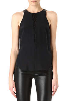 RAG & BONE Lace detail silk top