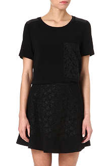RAG & BONE Ellinor crepe skirt