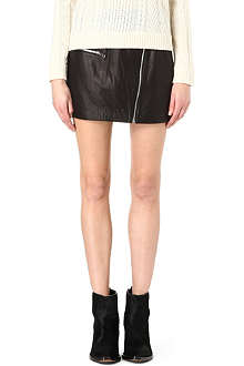 RAG & BONE Leather biker mini skirt