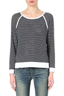 RAG & BONE Arianna striped raglan jumper