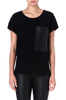 RAG & BONE New Basic leather-pocket t-shirt