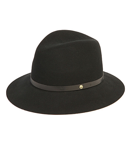 RAG & BONE Trimmed wool fedora (Black