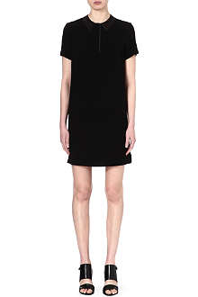 RAG & BONE Becker leather-collar dress
