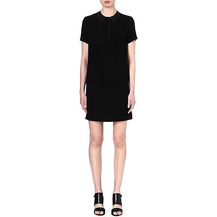 RAG & BONE Becker leather-collar dress (Black