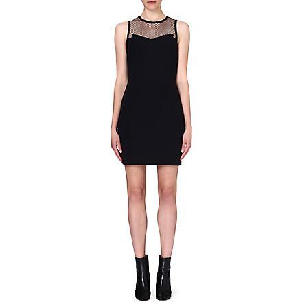 RAG & BONE Franklin mesh-panel dress (Black