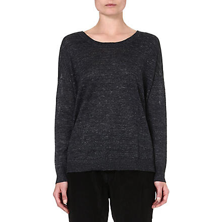 RAG & BONE Josie linen sweatshirt (Charcoal