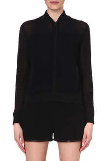 RAG & BONE Alexa knitted bomber jacket