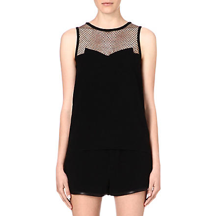 RAG & BONE Franklin crepe top (Black