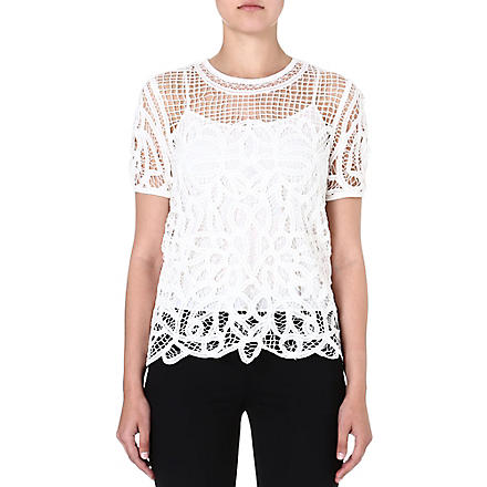 RAG & BONE Nancy lace top (White