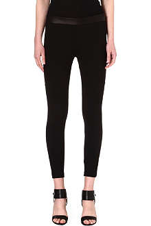 RAG & BONE Daria leather-detail leggings