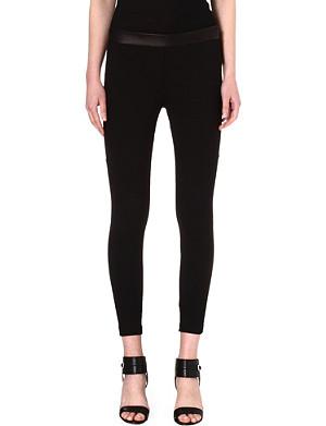 RAG & BONE Daria leather-detail leggings