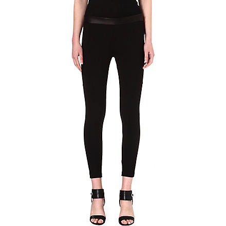 RAG & BONE Daria leather-detail leggings (/black