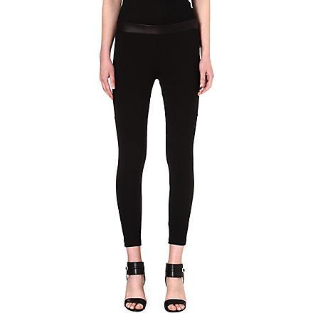 RAG & BONE Daria leather-detail leggings (/black