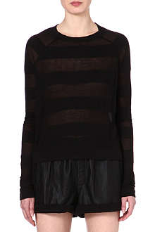 RAG & BONE Monty sheer-panel top