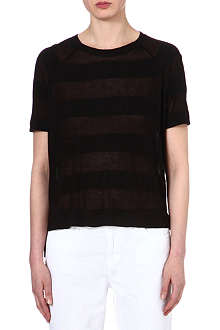 RAG & BONE Monty sheer-panel t-shirt