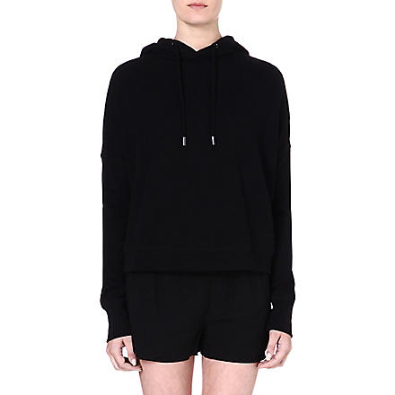 RAG & BONE Black cotton hoody (Black