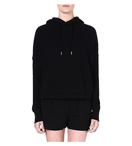 RAG & BONE Black cotton hoody (Black