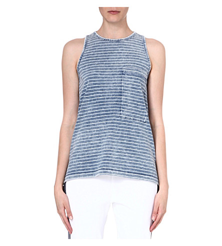 RAG & BONE Bowery striped cotton vest (Indigo
