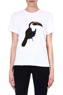 RAG & BONE Parrot-print cotton t-shirt