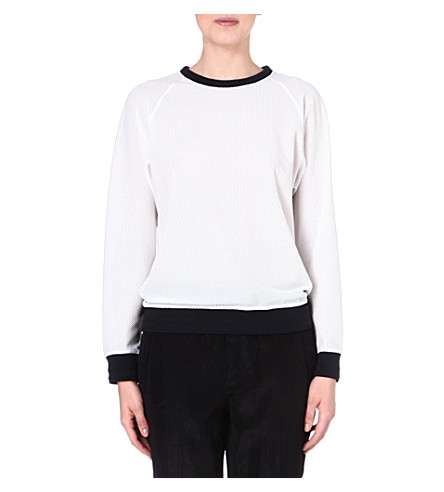 RAG & BONE Classic racer knitted jumper (Na/white