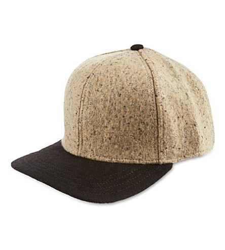 RAG & BONE Woollen baseball cap (Almond