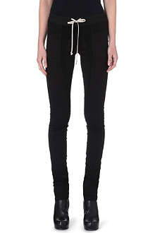 DRKSHDW Skinny stretch-cotton drawstring trousers