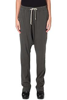 DRKSHDW Drop crotch drawstring trousers