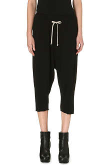 DRKSHDW Cropped drop crotch drawstring trousers