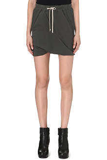 DRKSHDW Draped jersey drawstring shorts