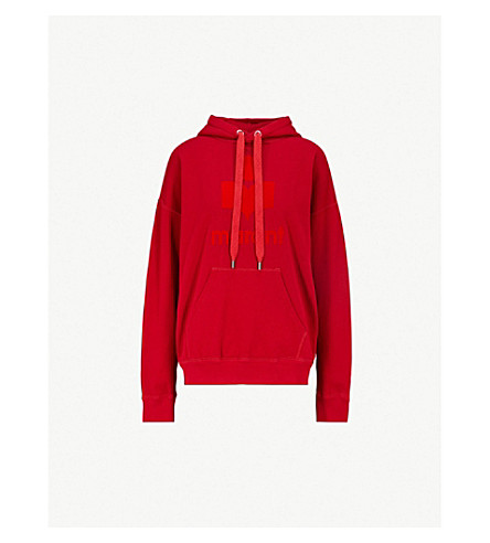 ISABEL MARANT ETOILE Mansel cotton-jersey hoody (Red