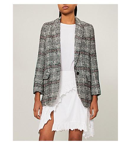 ISABEL MARANT ISABEL jacket Checked ecru Black ETOILE jacket Checked woven ETOILE MARANT woven Black YwxRag0