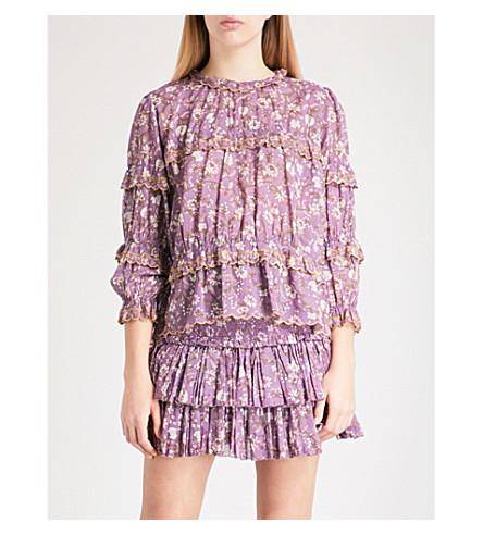 ISABEL MARANT ETOILE Moxley cotton top (Violet