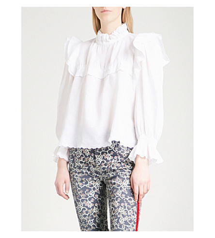 ISABEL MARANT ETOILE Ted linen blouse (White