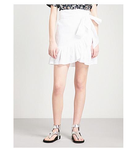 ISABEL MARANT ETOILE Tempster linen mini skirt (White